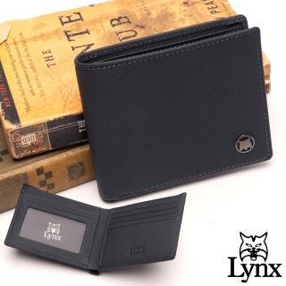 【Lynx】美國山貓藍調紳士進口牛皮系列5卡1照短夾-共2色
