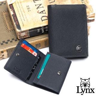 【Lynx】美國山貓藍調紳士進口牛皮系列2卡名片短夾-共2色