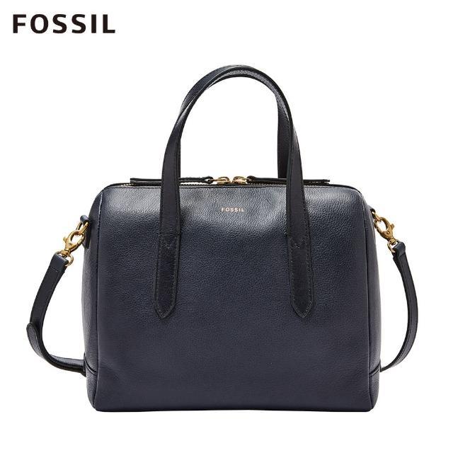 【FOSSIL】Sydney 海軍藍輕量真皮波士頓包SHB1978406