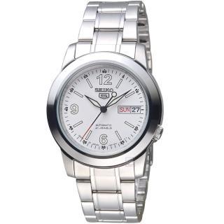 【SEIKO 精工】5號21石盾牌機械腕錶(7S26-02W0W SNKE57J1)