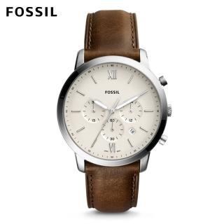 【FOSSIL】Neutra 清新時尚搭配款 咖啡色皮革手錶 男FS5380