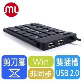【morelife】超薄USB數字鍵盤-黑(SKP-7120H2K)