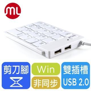 【morelife】超薄USB數字鍵盤-白(SKP-7120H2W)