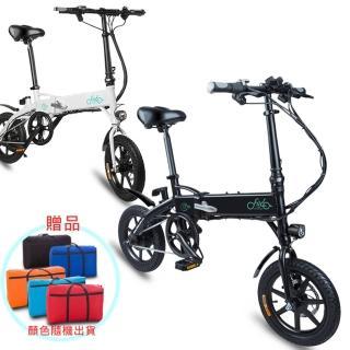 【公司貨】全新通勤版F1電動摺疊自行車贈攜車袋(腳踏車 電動車 摺疊車)