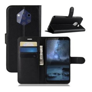 【PKG】Nokia 9 PureView側翻皮套(精選皮套-黑)