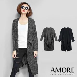 【Amore】韓版蝙蝠袖垂墜感長版外套(夏日必備長版外套)