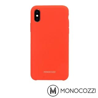 【MONOCOZZI】Gritty SoftTouch iPhone XS液態矽膠防污保護殼(紅色)