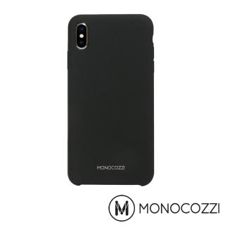 【MONOCOZZI】Gritty SoftTouch iPhone XS Max 液態矽膠防污保護殼(黑色)