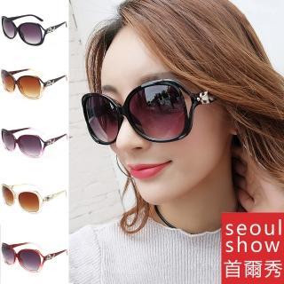 【Seoul Show首爾秀】輕量狐狸頭太陽眼鏡UV400墨鏡 9030(防曬遮陽)