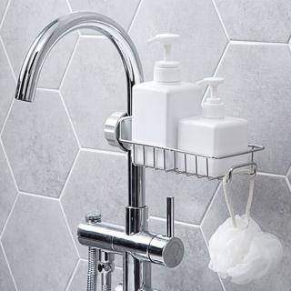 【幸福揚邑】不銹鋼水龍頭廚房浴室收納置物架