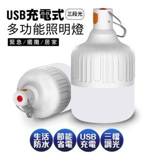 【新一代】智能USB充電懸掛式LED照明燈泡20W(14*8cm)
