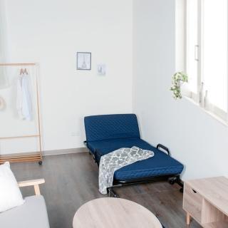 防疫必備 居家辦公【Simple Life】一把手省力收納折疊床 床墊Size 78x178cm