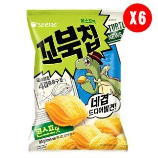 【ORION】烏龜玉米脆片(80gx6包)