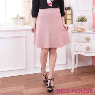【RED HOUSE 蕾赫斯】三角剪裁及膝裙(共2色)