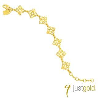【Just Gold 鎮金店】繁花盛放純金系列 黃金手鍊
