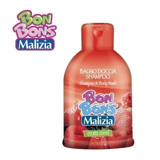 【Malizia 瑪莉吉亞】棒棒糖香氛 2合1 洗髮沐浴露 - 戀戀紅莓果 500ml(香氛洗沐2合1)