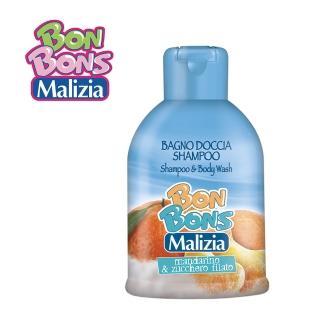 【Malizia 瑪莉吉亞】棒棒糖香氛 2合1 洗髮沐浴露 - 橘子棉花糖 500ml(香氛沐浴2合1)