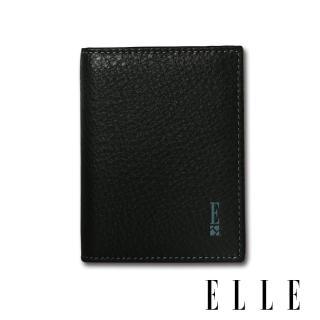 【ELLE HOMME】OUTLET款-輕巧型多層信用卡/證件夾(紳士黑 EL2070003)