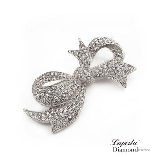 【大東山珠寶】浪漫風情滿鑽星鑽銀胸針(晶鑽)