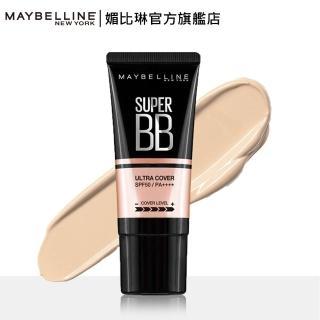 【MAYBELLINE 媚比琳】純淨礦物極效幻膚BB凝露 升級版 SPF 50/PA++++(30ml)