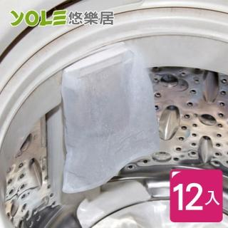 【YOLE 悠樂居】 洗衣機毛屑過濾網袋#1229017(12入)