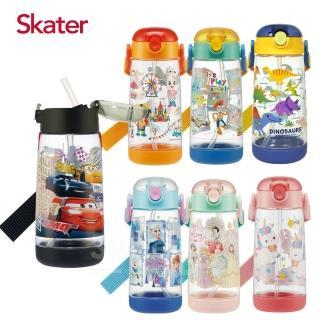 【Skater】透明吸管PET水壺-480ml