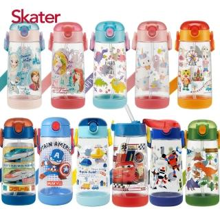 【Skater】透明吸管PET水壺(480ml)/