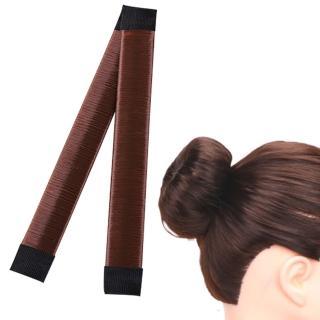 【kiret】海綿寶寶假髮圈包頭/丸子頭 盤髮器-深咖 贈橡皮筋髮圈(啪啪圈 捲髮寶 捲髮棒 編髮器)