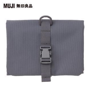 【MUJI 無印良品】聚酯纖維吊掛小物收納袋/約12x18cm(灰)