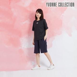 【Yvonne Collection】SUMMER圓領短袖上衣(黑)