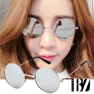 【BeLiz】紳士小圓框*細金屬反射炫麗墨鏡/水銀