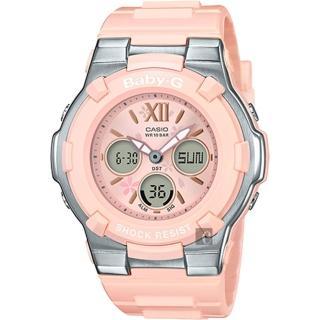 【CASIO 卡西歐】Baby-G 櫻花甜美手錶-粉紅(BGA-110BL-4B)