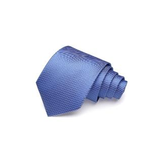 【拉福】領帶寬版領帶8cm防水領帶手打領帶(天藍)