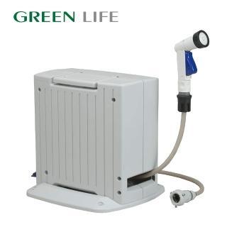 【日本製 GREEN LIFE】自動收卷水管車20M(洗車、園藝澆花、居家打掃)