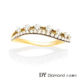 【DY Diamond 大亞鑽石】L.Y.A輕珠寶 18黃K金 輕奢 鑽石線戒
