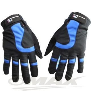 【OMAX】新風尚簡約全指手套-藍色