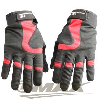 【OMAX】新風尚簡約全指手套-紅色