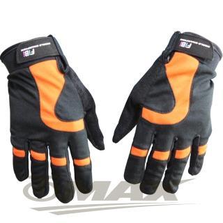 【OMAX】新風尚簡約全指手套-橘色
