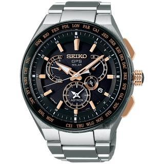 【SEIKO 精工】ASTRON 8X53 雙時區鈦GPS衛星定位手錶(8X53-0AV0KS  SBXB125J)