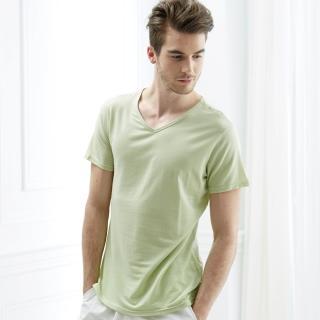 【Edenswear 伊登詩】男士seacell海藻天絲棉短袖上衣(德國進口原料從原紗到車縫台灣製造)