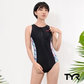 【TYR】Seychelles Zip Swimsuit拉鍊式運動連身三角泳裝(連身 三角 修身剪裁)