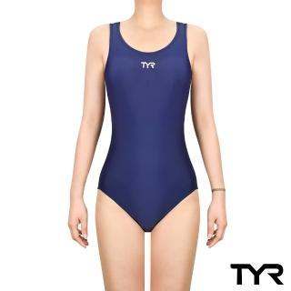 【TYR】Solid Female MaxFit 女用連身三角泳裝 藍色(三角 修身剪裁)