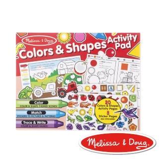 【Melissa & Doug 瑪莉莎】學習貼貼樂(顏色和形狀)