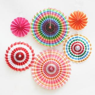 DIY圓形紙扇花6入套組