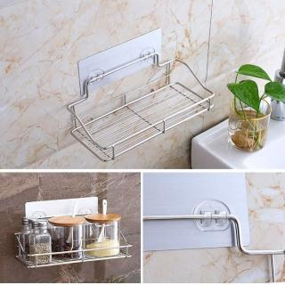 【EZlife】免打孔廚衛不鏽鋼置物架(A短款)