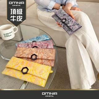 【Omnia】韓國克里絲真皮女用長夾 NO.3077A(真皮長夾 長皮夾)