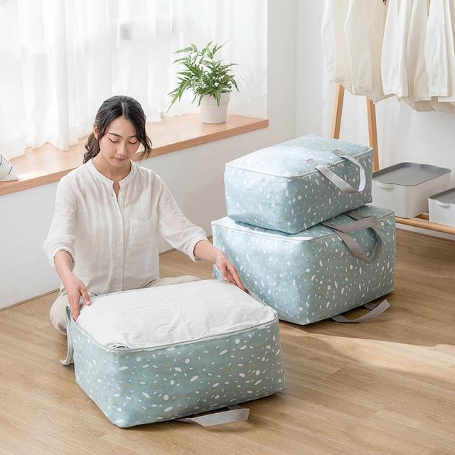 【E.City】棉麻文青風大容量衣物棉被萬用收納袋(大容量材質厚實)/