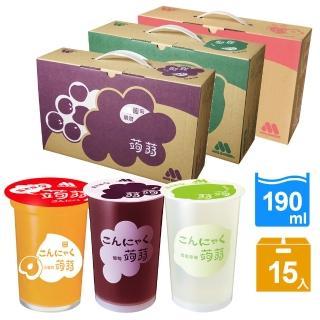 【摩斯漢堡】蒟蒻15杯/箱(葡萄/檸檬/草莓 任選)