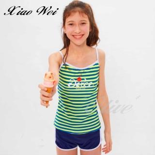 【SARLEE 沙麗】時尚中童/女童二件式泳裝(NO.H19702)