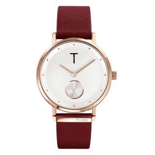 【TYLOR】夢想時尚T字時刻腕錶-紅色(TLAJ003)